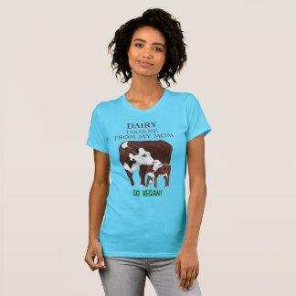 Van la vaca de la madre del vegano y la camiseta