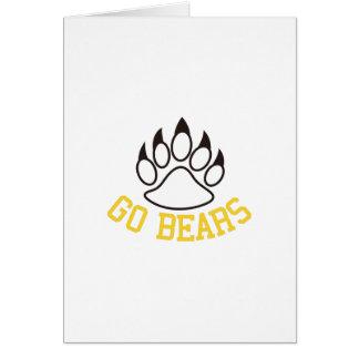 Van los osos tarjeta de felicitación