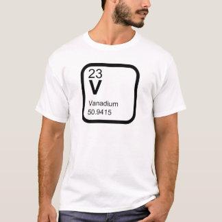 Vanadio - diseño de la ciencia de la tabla camiseta