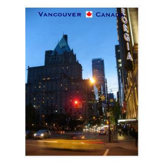 Vancouver por la noche Canadá Postal