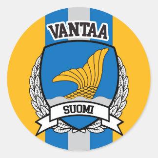 Vantaa Pegatina Redonda