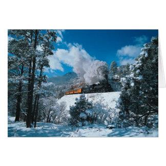 Vapor del invierno tarjeta de felicitación