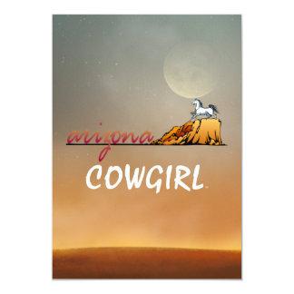 Vaquera de Arizona de la CAMISETA Invitación 12,7 X 17,8 Cm