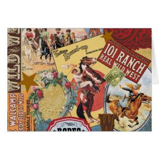 vaquera occidental del vintage moderno tarjeta pequeña