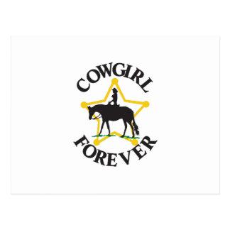 Vaquera para siempre postal