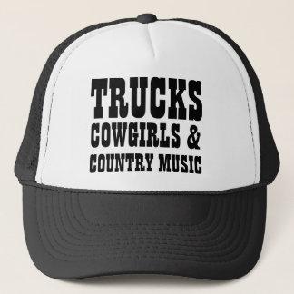 Vaqueras y música country de los camiones gorra de camionero