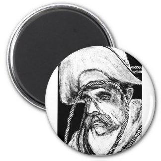 Vaquero con jGibney de la cuerda B&W2 el soldado Imán De Nevera