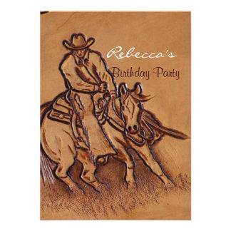 Vaquero de cuero equipado occidental del montar a comunicado personalizado