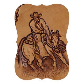 Vaquero de cuero equipado occidental del montar a anuncio