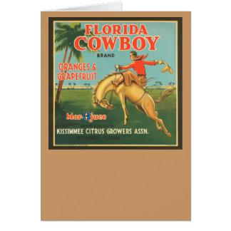 Vaquero de la Florida Tarjeta De Felicitación