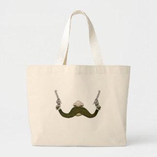 Vaquero del bigote bolsas de mano