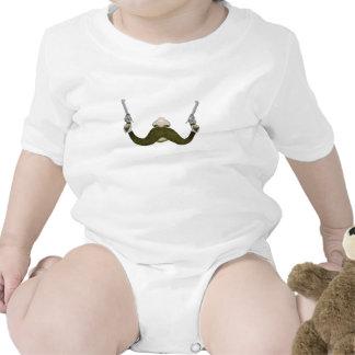 Vaquero del bigote traje de bebé