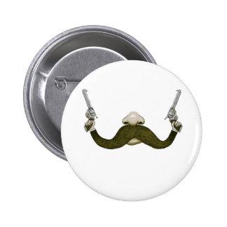 Vaquero del bigote pin