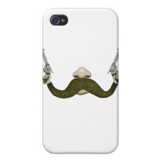 Vaquero del bigote iPhone 4 coberturas