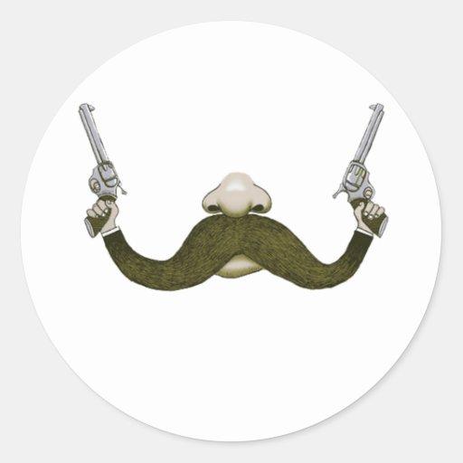Vaquero del bigote etiquetas