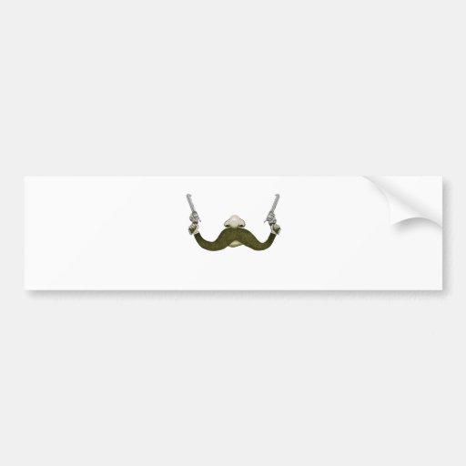 Vaquero del bigote etiqueta de parachoque