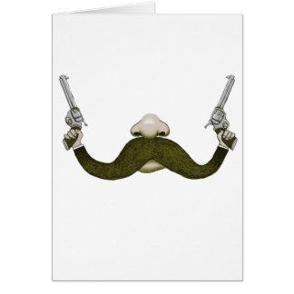 Vaquero del bigote felicitaciones