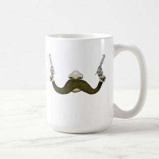 Vaquero del bigote taza de café