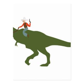 Vaquero del dinosaurio postal