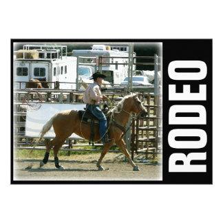 Vaquero del rodeo a caballo anuncios personalizados