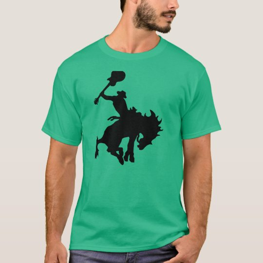 Vaquero del rodeo del héroe de la guitarra a camiseta