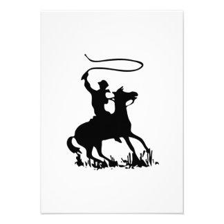 Vaquero en caballo comunicado
