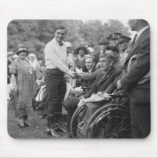 Vaquero en la Casa Blanca, 1925 Alfombrilla De Ratones