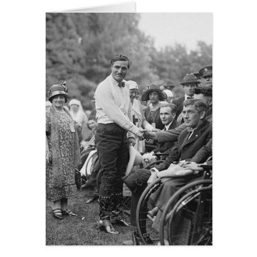 Vaquero en la Casa Blanca, 1925 Felicitación