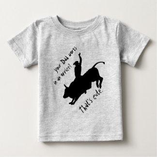 Vaquero espeso del rodeo del montar a caballo de camiseta de bebé