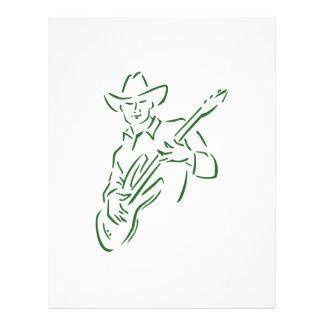 vaquero green.png del esquema del guitarrista flyer personalizado