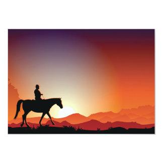 Vaquero invitaciones de un caballo que montan invitación 12,7 x 17,8 cm