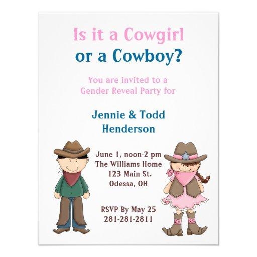 ¿Vaquero o vaquera? El género revela la invitación