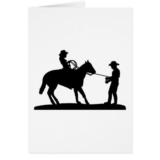 Vaquero Roping de la vaquera Felicitación