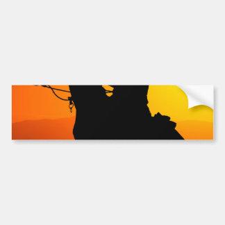 Vaquero-Vaquero-sol-occidental-país de la puesta Pegatina Para Coche