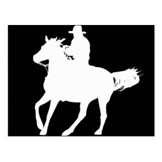 Vaquero y su caballo postal