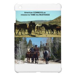 Vaqueros americanos en viaje a los caballos del