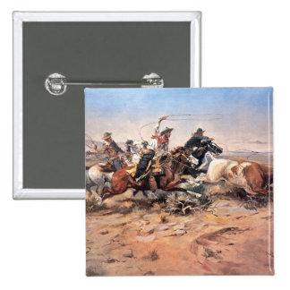 Vaqueros roping un buey, 1897 (aceite en lona) pin