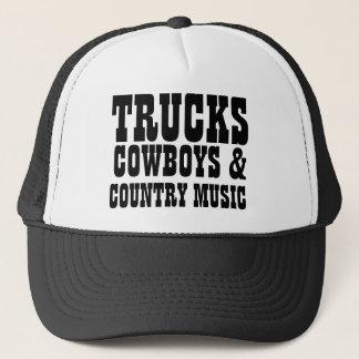 Vaqueros y música country de los camiones gorra de camionero
