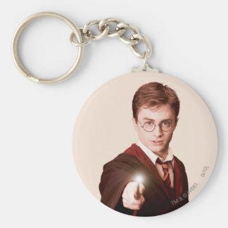 Vara de los puntos de Harry Potter Llavero Redondo Tipo Chapa