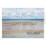 Vare la 40.a tarjeta de cumpleaños de la escena co