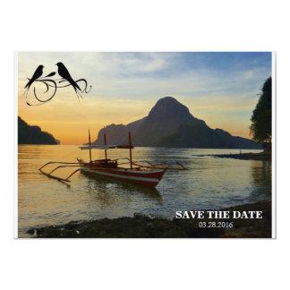Vare/reserva la tarjeta de fecha invitación 12,7 x 17,8 cm