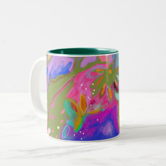 Taza Bicolor Variación hermosa de la taza del jardín