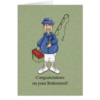 Varón del retiro tarjeta de felicitación