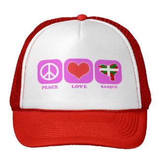 Vasco del amor de la paz gorra