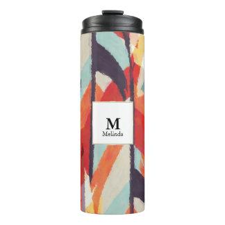 Vaso abstracto del monograma de la acuarela