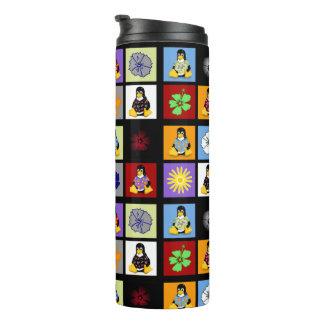 Vaso casual de Tux - negro
