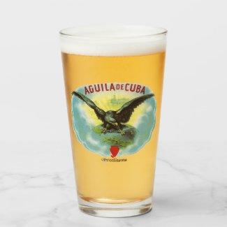 Vaso de cerveza Aguila de Cuba by RetroCharms