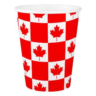 Vaso De Papel Bandera canadiense del día de Canadá pequeñas