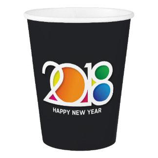 Vaso De Papel Celebración minimalista moderna del fiesta del Año