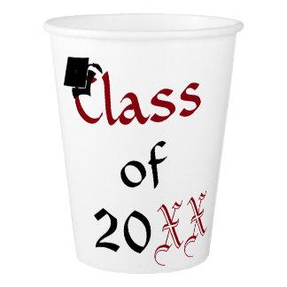 Vaso De Papel Clase de encargo de tazas de la graduación 20XX